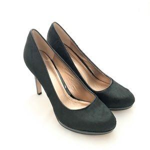 "BCBG Black fur BCBGeneration pumps - 3.5"" heels"